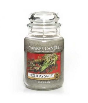 Yankee Candle Holiday Sage Glas gross