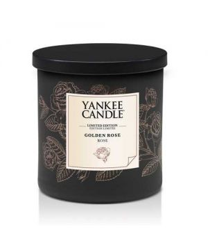 Yankee Candle Gold Collection Golden Rose pillar klein