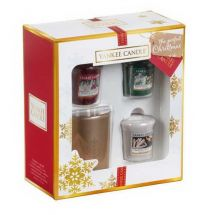 Yankee Candle The Perfect Christmas 3 Votive Sampler plus Halter