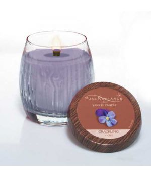 Yankee Candle Pure Radiance Crackling Lumiwick Violet medium