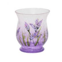 Sampler Holder Crackle Lavender Glas violett