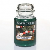 Yankee_Candle Christmas Garland glas gross housewarmer jar